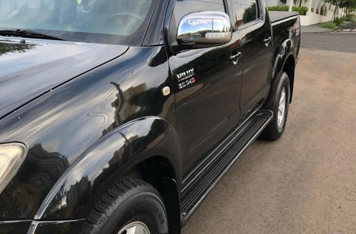 Toyota Hilux 3.0 Srv 4x4 Cd 16v Turbo Intercooler Diesel 4p Automático Preto Diesel 2011 Usado