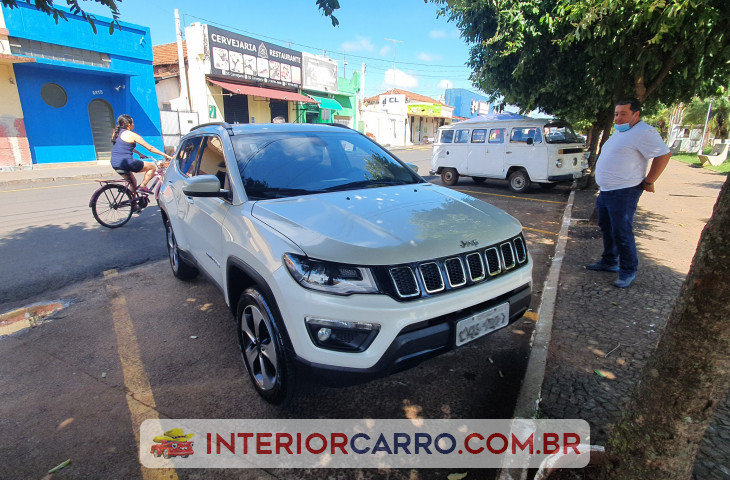 Jeep Compass 2.0 16v Diesel Longitude 4x4 Automático Branco Diesel 2018 Usado